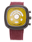 cheap Sport Watches-JUBAOLI Men's Sport Watch Quartz Large Dial Fabric Band Analog Charm Black - Orange Yellow Blue One Year Battery Life / SSUO LR626
