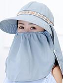 baratos Chapéus Femininos-Mulheres Algodão, Chapéu de sol - Estampado / Verão