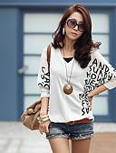 cheap Women's Shirts-Women's T-shirt - Art Deco Artistic Style / Spring / Fine Stripe
