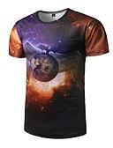 preiswerte Herren T-Shirts & Tank Tops-Herrn Galaxis - Aktiv Sport T-shirt, Rundhalsausschnitt Druck