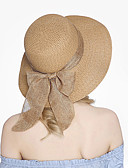 cheap Fashion Hats-Women's Vintage Cute Straw Hat Sun Hat - Solid Colored