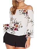 cheap Women's T-shirts-Women's Shirt - Solid Colored Off Shoulder