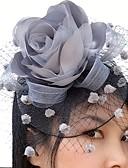 baratos Acessórios de Cabelo-Rede / Cetim Fascinadores / Flores / Véus de Birdcage com 1 Casamento / Ocasião Especial / Casual Capacete