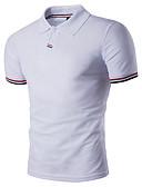 tanie Męskie koszulki polo-Polo Męskie Moda miejska Kołnierzyk koszuli Geometryczny / Krótki rękaw