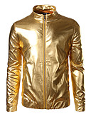cheap Men's Jackets & Coats-Men's Club Street chic Jacket - Solid Colored, Sequins Stand
