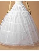 ieftine Jupon de Nuntă-Nuntă Ocazie specială Cămăși de noapte Poliester Tulle Lungime până la podea A-Line Slip Jupă Rochie de Bal cu