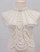 ieftine Bluză-Perle Corp lanț / burtă lanț - Imitație de Perle Vintage, Modă Pentru femei Alb Bijuterii de corp Pentru Casual / Ștras