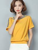 ieftine Bluză-Pentru femei În U - Mărime Plus Size Bluză Bloc Culoare / Vară