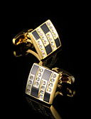 cheap Men's Blazers & Suits-Geometric White / Black Cufflinks Copper Gift Boxes & Bags / Fashion Men's Costume Jewelry For