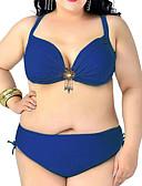 baratos Biquínis e Roupas de Banho Femininas-Mulheres Nadador Biquíni - Sólido, Sexy Cavado