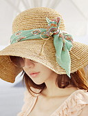 baratos Chapéus Femininos-Mulheres Férias Chapéu de sol Sólido / Verão