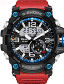 cheap Sport Watches-Men's Unisex Sport Watch Fashion Watch Military Watch Digital 30 m Water Resistant / Water Proof Alarm Calendar / date / day PU Band Analog-Digital Black / Blue / Red - Khaki Black / Blue Black / #