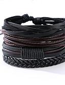 cheap Men's Downs & Parkas-Men's Leather Bracelet - Leather Vintage, Punk Bracelet Black For Anniversary / Gift / Sports