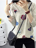 cheap Women's Dresses-Women's Going out T-shirt - Solid Colored Artistic Style / Spring / Fall