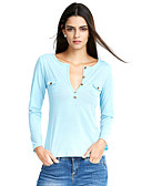 cheap Women's T-shirts-Women's T-shirt - Solid Colored V Neck