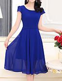 رخيصةأون فساتين مطبوعة-فستان نسائي قياس كبير عصري / ثوب ضيق طول الركبة لون سادة مناسب للخارج