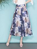 baratos Calças Femininas-Mulheres Tamanhos Grandes Perna larga / Chinos Calças - Floral Estampado
