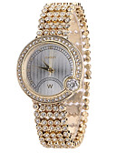 cheap Quartz Watches-Women's Wrist Watch Creative / Cool Alloy Band Casual / Fashion Gold