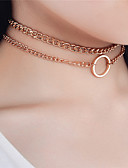 cheap Women's Lingerie-Women's Choker Necklace - Personalized, Fashion, Euramerican Gold, Silver Necklace Jewelry 1pc For Special Occasion, Daily, Casual