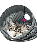 저렴한 티셔츠-고양이 침대 애완동물 바구니 솔리드 통기성 / 폴더 그레이 애완 동물