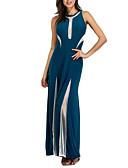 זול שמלות נשים-גיזרה גבוהה מקסי קולור בלוק - שמלה נדן מתוחכם Party / מועדונים בגדי ריקוד נשים