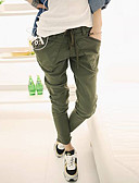 cheap Women's Pants-Women's Active Cotton Harem Chinos Pants - Solid Colored Low Rise