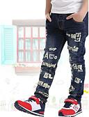 baratos Calças para Meninos-Infantil Para Meninos Escola / Para Noite Estampado Algodão Jeans