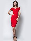 preiswerte Damen Kleider-Damen Bodycon Hülle Kleid Solide Mini Bateau Hohe Hüfthöhe