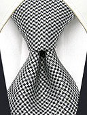 cheap Men's Ties & Bow Ties-Men's Party Work Basic Rayon Necktie - Color Block Houndstooth Jacquard Basic