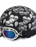 baratos Abrigos e Moletons Masculinos-Meio Capacete capacetes para motociclistas