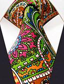 זול עניבות ועניבות פרפר לגברים-עניבת צווארון - פרחוני דפוס סרוג חוטי זהורית עבודה בסיסי בגדי ריקוד גברים