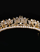 abordables Vestidos de Novia-Perla Artificial / Brillante / Legierung Tiaras / Para la Cabeza con Flor 1pc Boda / Ocasión especial Celada