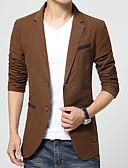 abordables Vestidos de Talla Grande-Hombre Simple Vintage Tallas Grandes Blazer Bloques / Manga Larga / Trabajo