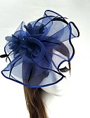 cheap Fashion Hats-Tulle / Feather / Net Fascinators / Hats / Birdcage Veils 1 Wedding / Special Occasion Headpiece