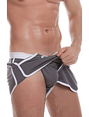 cheap Men's Underwear & Socks-Men's Sexy Boxer Briefs Solid Colored 1 Piece