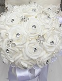 "cheap Plus Size Wedding Dresses-Wedding Flowers Bouquets Wedding Bead / Rhinestone / Foam 11.02""(Approx.28cm)"