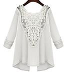 abordables Camisas y Camisetas para Mujer-Mujer Blusa,Escote en U Profunda Bordado Algodón