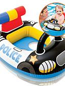 cheap Men's Jackets & Coats-Police Inflatable Pool Float Donut Pool Float Swim Rings Plastic Kid's Girls' Boys'