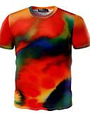お買い得  メンズTシャツ&タンクトップ-男性用 スポーツ - プリント Tシャツ 活発的 ラウンドネック コットン