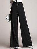 cheap Women's Pants-Women's Slim Wide Leg Chinos Pants - Solid, Pure Color High Rise