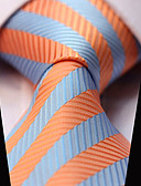 cheap Men's Ties & Bow Ties-Men's Party Work Casual Stripes Necktie - Striped