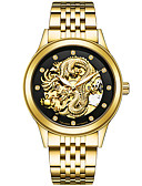 cheap Mechanical Watches-Men's Sport Watch Skeleton Watch Military Watch Japanese Automatic self-winding Stainless Steel Silver / Gold / Multi-Colored 30 m Calendar / date / day Creative Imitation Diamond Analog Charm Luxury