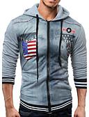 cheap Men's Hoodies & Sweatshirts-Men's Fashion Long Sleeve Slim Hoodie - Patchwork / 3D Print / Fashion, Animal Pattern / Knitting / Patchwork Hooded