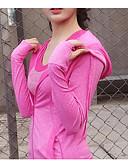 povoljno Maske za mobitele-Žene Trenirka Sexy Pamuk Spandex Yoga Trčanje Sposobnost Kompresivna odjeća Dugih rukava Odjeća za rekreaciju Quick dry Rastezljivo