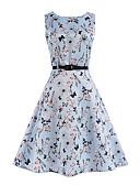 cheap Women's Dresses-Women's Beach Vintage A Line Dress - Floral High Rise