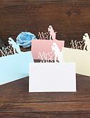 preiswerte Hochzeitskleider-Kartonpapier Tischnummer-Karten Ständer 40 pcs