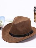 abordables Sombreros de mujer-Hombre Sombrero de Paja - Vintage / Vacaciones / Al Aire Libre Un Color