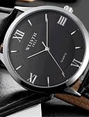 preiswerte Leder-Herrn Quartz Armbanduhr Armbanduhren für den Alltag Leder Band Freizeit Modisch Schwarz