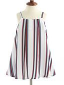 お買い得  ガールズファッション-女の子の 縞柄 コットン ドレス ノースリーブ ストライプ ホワイト