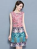 preiswerte Damen Kleider-Damen Übergrössen A-Linie Kleid Einfarbig